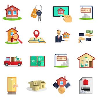 Zestaw ikon nieruchomości