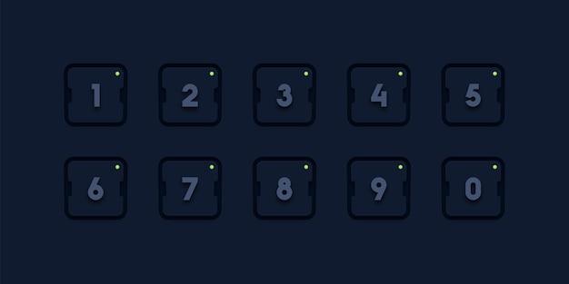 Zestaw ikon numer punktora
