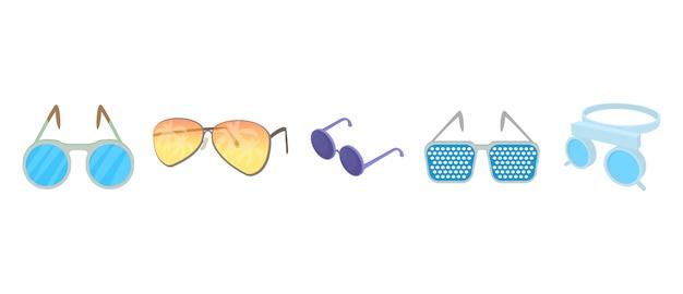 Zestaw ikon okularów