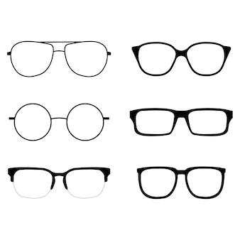 Zestaw ikon okulary
