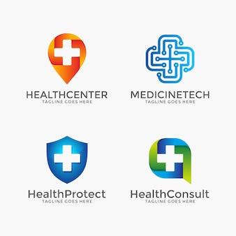 Zestaw ikon opieki zdrowotnej i farmacji
