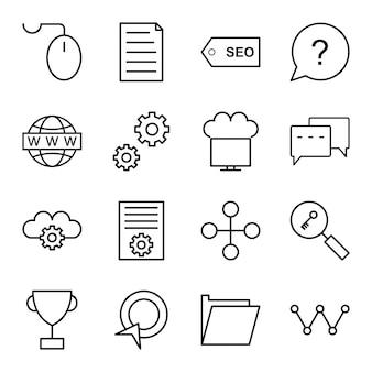 Zestaw ikon optymalizacji pod kątem wyszukiwarek
