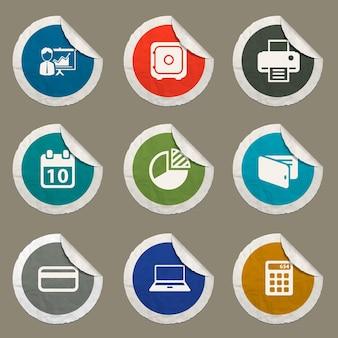 Zestaw ikon pakietu office dla witryn internetowych i interfejsu użytkownika