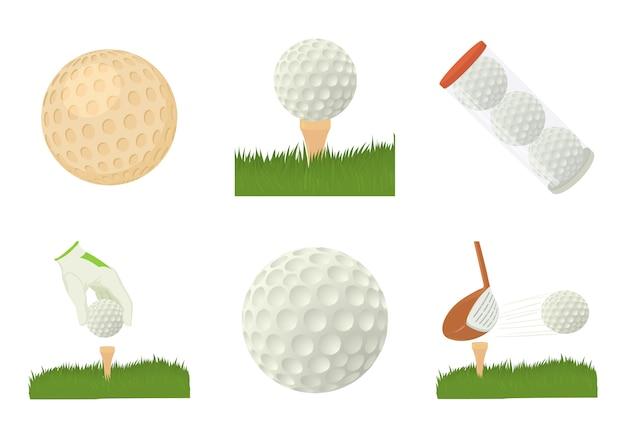 Zestaw ikon piłeczki do golfa