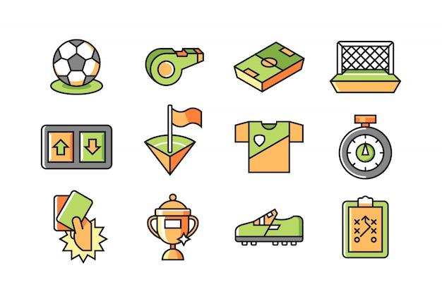 Zestaw ikon piłki nożnej