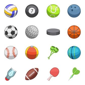 Zestaw ikon piłki sportowe