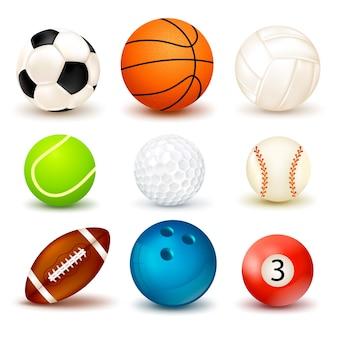 Zestaw ikon piłki