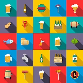 Zestaw ikon piwa