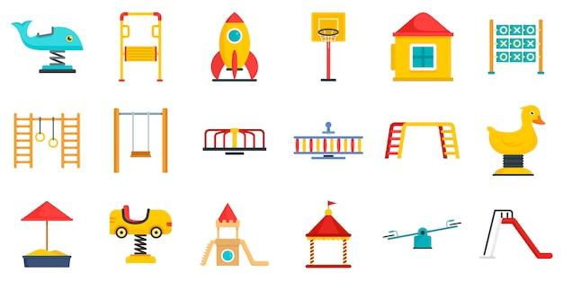 Zestaw ikon plac zabaw dla dzieci