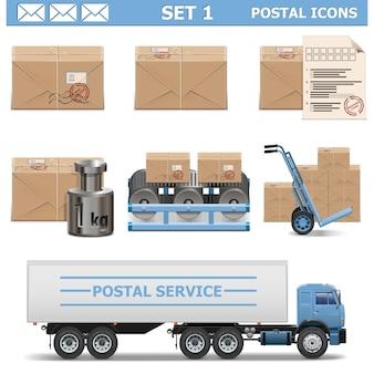 Zestaw ikon pocztowych 1