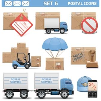 Zestaw ikon pocztowych 6