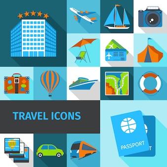 Zestaw ikon podróży