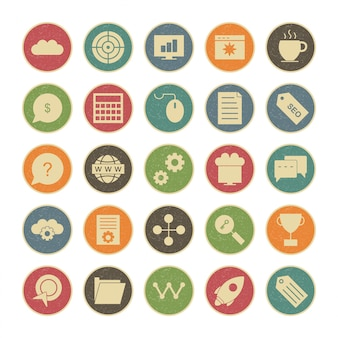 Zestaw ikon podstawowego interfejsu użytkownika