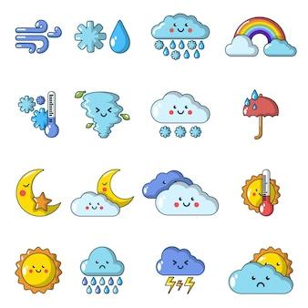 Zestaw ikon pogody