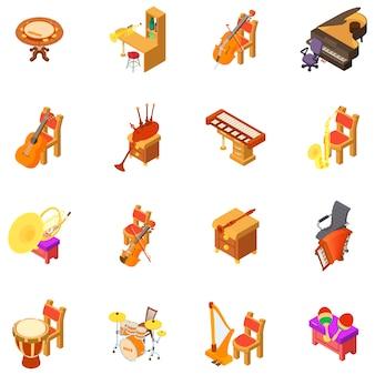 Zestaw ikon pokoju muzycznego