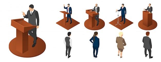 Zestaw ikon politycznych spotkań