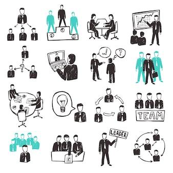 Zestaw ikon pracy zespołowej