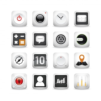 Zestaw ikon projektowania 3d.