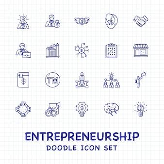 Zestaw ikon przedsiębiorczości