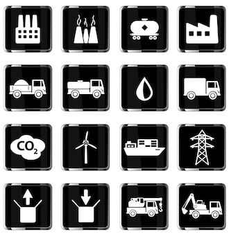 Zestaw ikon przemysłowych po prostu wektor