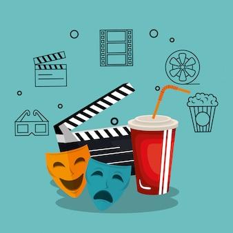 Zestaw ikon przemysłu kinowego