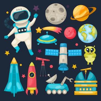 Zestaw ikon przestrzeni