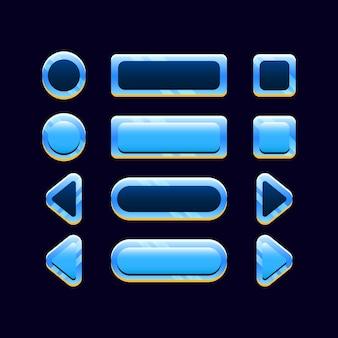 Zestaw ikon przycisku spacji gui dla elementów zasobów interfejsu gry
