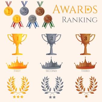 Zestaw ikon ranking