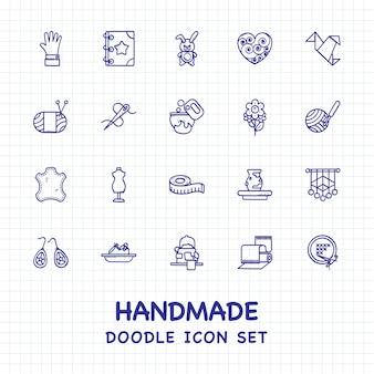 Zestaw ikon ręcznie
