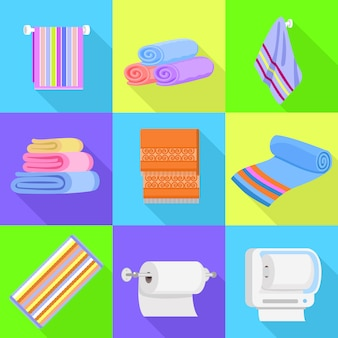 Zestaw ikon ręczników.