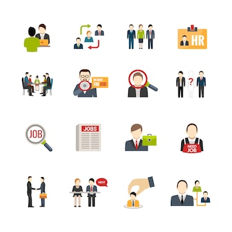 Zestaw ikon rekrutacji