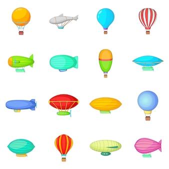 Zestaw ikon rocznika balony