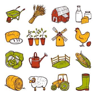 Zestaw ikon rolnictwa