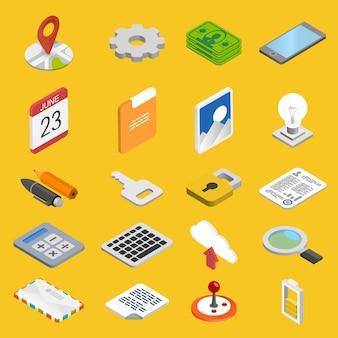 Zestaw ikon rozwoju mobilnego sztuki. ilustracja wektorowa