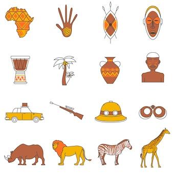Zestaw ikon safari