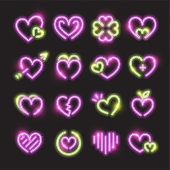 Zestaw ikon serca