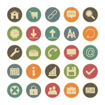Zestaw ikon sieci do użytku osobistego i komercyjnego.