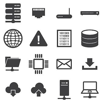 Zestaw ikon sieci i serwera