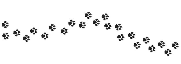 Zestaw ikon śladu psa. odcisk łapy. wektor na na białym tle. eps 10