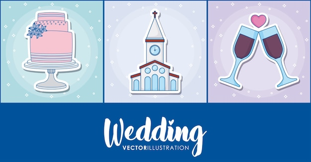 Zestaw ikon ślubu