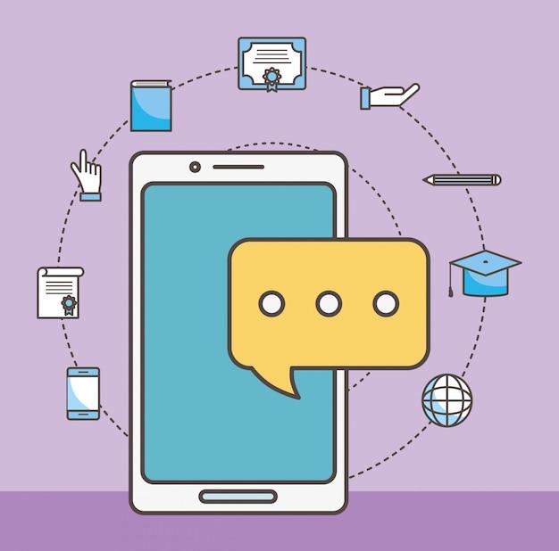 Zestaw ikon smartfona i mediów społecznościowych