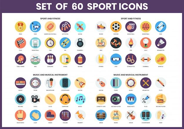 Zestaw ikon sportu dla biznesu