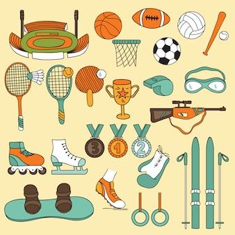 Zestaw ikon sportu