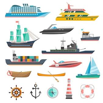 Zestaw ikon statków