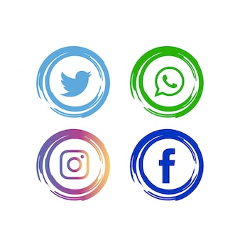 Zestaw ikon streszczenie mediów społecznych