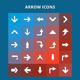 Zestaw ikon strzaå,ek