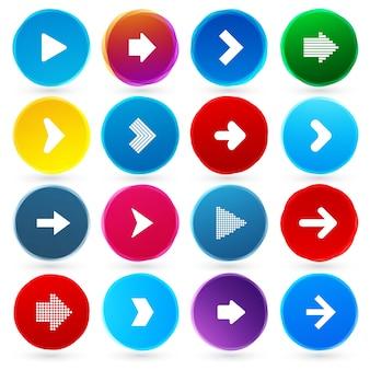 Zestaw ikon strzałki