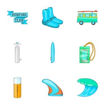 Zestaw ikon surfowania, stylu cartoon