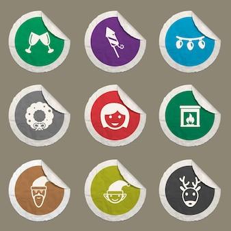 Zestaw ikon świątecznych dla stron internetowych i interfejsu użytkownika