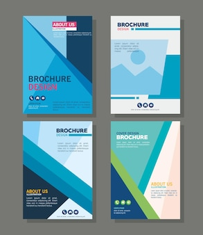 Zestaw ikon szablonów broszur